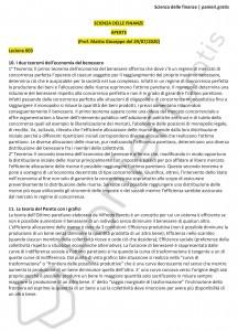 Paniere di Scienze delle finanza - Aperte - Economia - eCampus