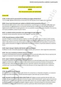 Paniere di Attività motorie preventive e adattate - Aperte - eCampus