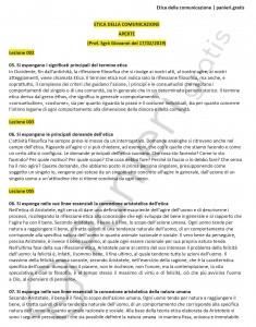 Paniere di Etica della comunicazione - Aperte - Scienze della comunicazione - eCampus