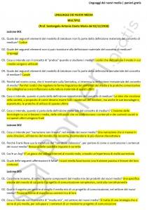 Paniere di Linguaggi dei nuovi media - Multiple - Scienze della comunicazione - eCampus