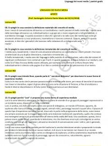 Paniere di Linguaggi dei nuovi media - Aperte - Scienze della comunicazione - eCampus