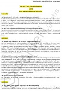 Paniere di Psicopatologia forense e profiling - Aperte - Servizi giuridici - eCampus