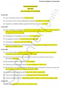 Paniere di Tecniche investigative - Multiple - Servizi giuridici - eCampus