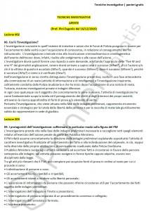 Paniere di Tecniche investigative - Aperte - Servizi giuridici - eCampus