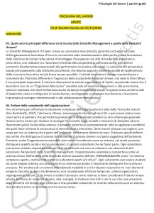 Paniere di Psicologia del lavoro - Aperte - Scienze politiche - eCampus