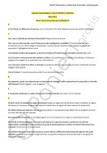 Paniere di Analisi finanziaria e valutazione d'azienda - Multiple - eCampus