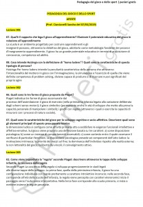 Paniere di Pedagogia del gioco e dello sport - Aperte - Scienze motorie - eCampus