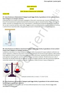 Paniere di Fisica applicata - Aperte - Scienze biologiche - eCampus
