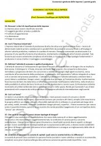 Paniere di Economia e gestione delle imprese C - Aperte - Economia - eCampus