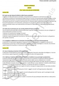 Paniere di Finanza aziendale (B) - Aperte - Economia - eCampus