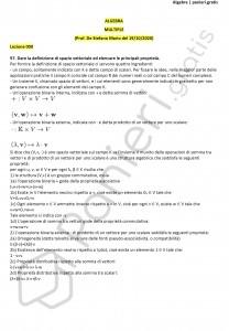 Paniere di Algebra - Aperte - Master - eCampus