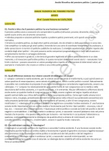 Paniere di Analisi filosofica del pensiero politico - Aperte - Scienze politiche - eCampus