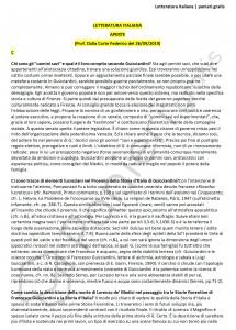 Paniere di Letteratura italiana - Aperte - Filologia moderna - eCampus