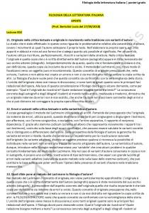 Paniere di Filologia della letteratura italiana - Aperte - Filologia moderna - eCampus