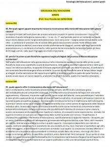 Paniere di Sociologia dell'educazione - Aperte - Scienze dell'educazione - eCampus
