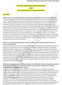 Paniere di Sociologia penitenziaria e rieducazione sociale - Aperte - Servizi giuridici - eCampus