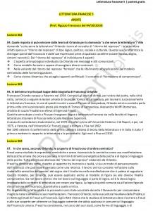 Paniere di Letteratura francese 5 - Aperte - eCampus