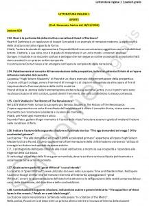 Paniere di Letteratura inglese 1 - Aperte - eCampus