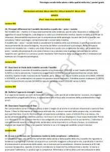 Paniere di Psicologia sociale della salute e della qualità della vita - Aperte - eCampus