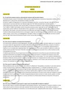 Paniere di Letteratura francese 1b - Aperte - eCampus