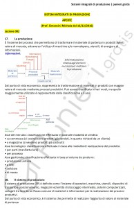 Paniere di Sistemi integrati di produzione - Aperte - Ingegneria industriale