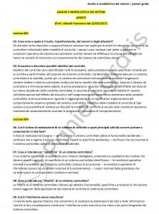 Paniere di Analisi e modellistica dei sistemi - Aperte - eCampus