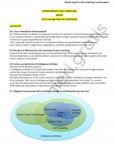 Paniere di Sistemi esperti e soft computing - Aperte - Ingegneria informatica