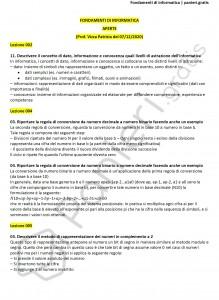 Paniere di Fondamenti di informatica - Aperte - Ingegneria industriale - eCampus