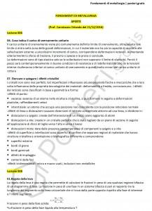 Paniere di Fondamenti di metallurgia - Aperte - Ingegneria industriale - eCampus