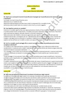 Paniere di Ricerca operativa 2 - Aperte - Ingegneria informatica - eCampus