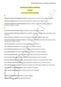 Paniere di Gestione delle imprese e marketing - Multiple - eCampus